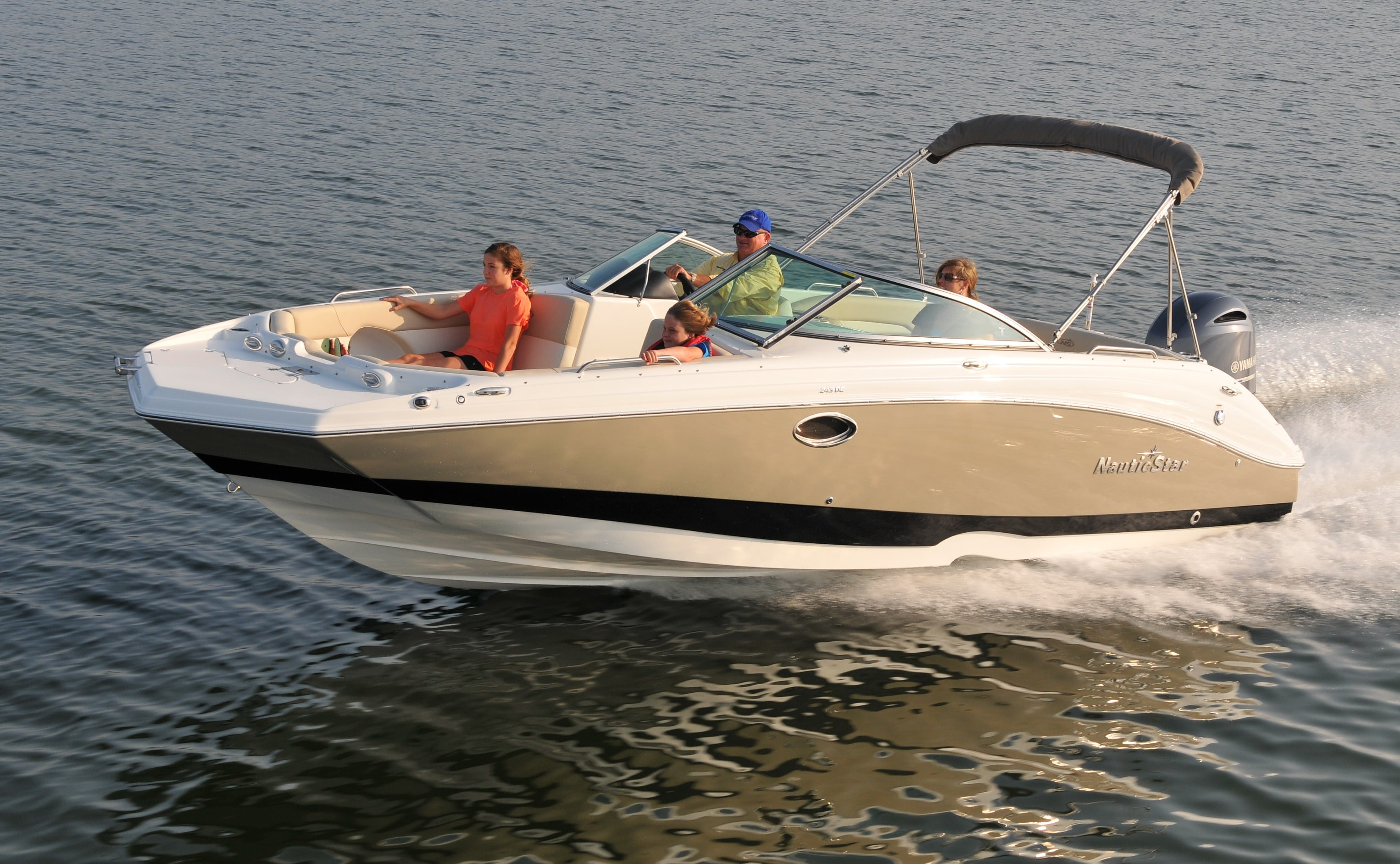 The NauticStar 243 DC Dual Console Sport Deck Boat