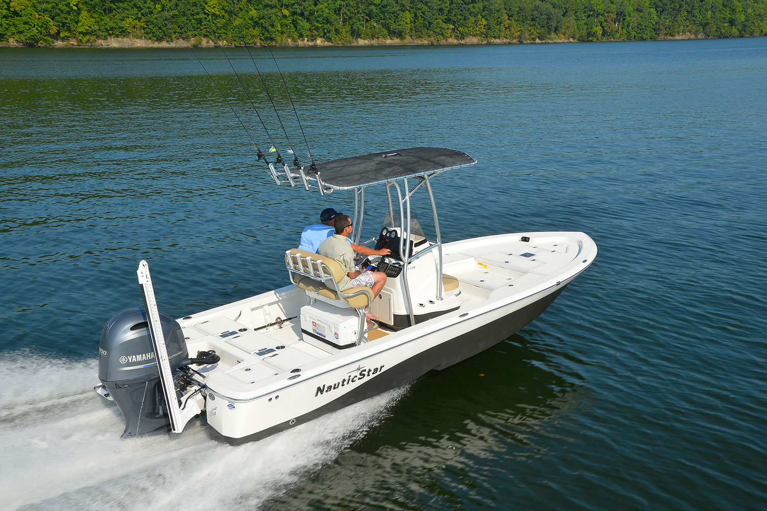 Two men captaining NauticStar 227 XTS