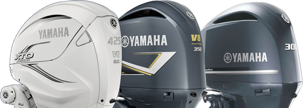 Three Yamaha Motors