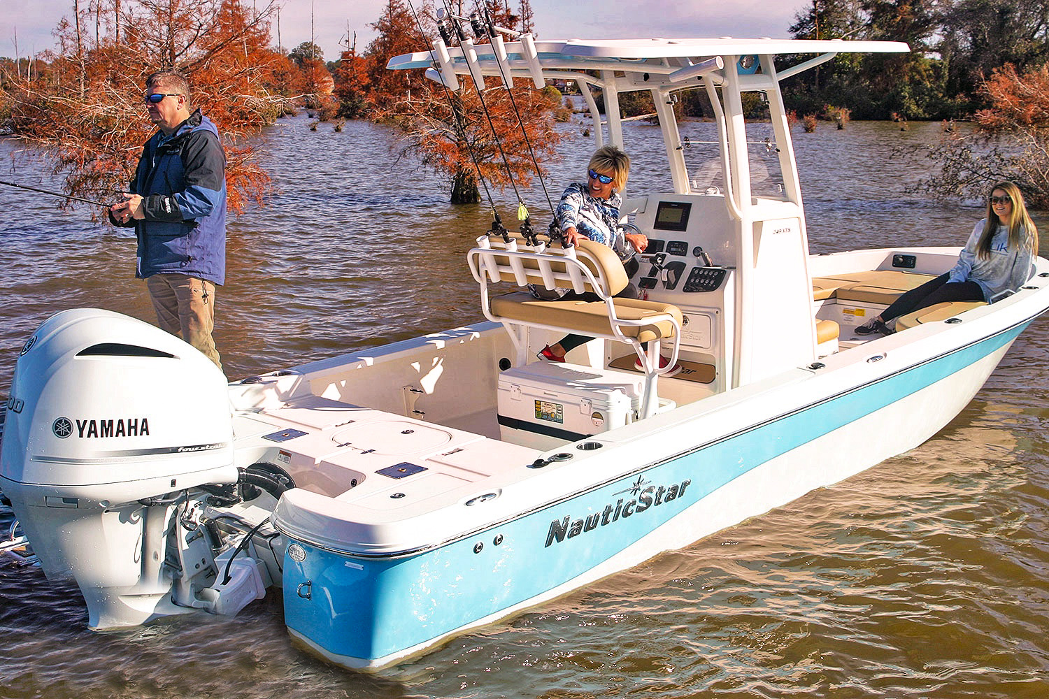 Fishing on a NauticStar 249XTS boat