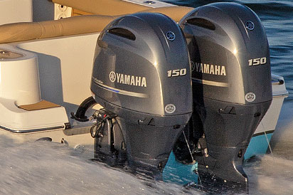 Yamaha Twin 150 Off Shore engines