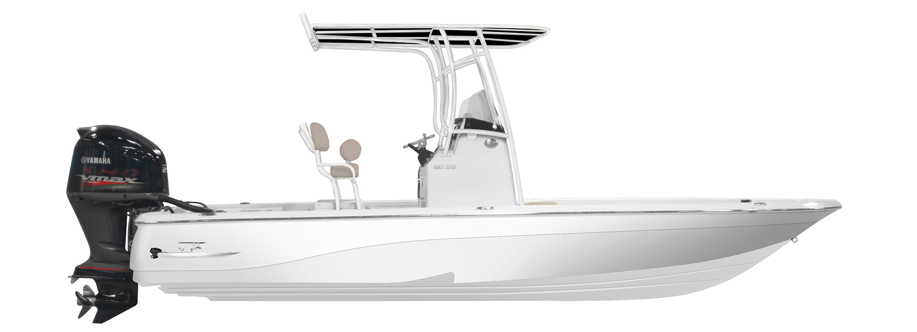 Side Profile Rendering of a 227XTS NauticStar Boat