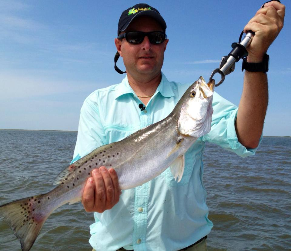 This six pound speckled trout wanted to check out the inside of a NauticStar before being released.